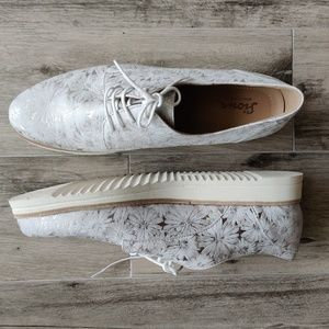 Sioux White Leather Shoes